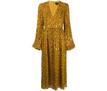 Ausgestelltes Kleid mit Leo-Print
