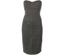 Schulterfreies Kleid mit geometrischem Muster