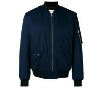 buttoned shoulders bomber jacket