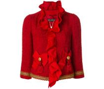Tweed-Jacke mit Rüschen