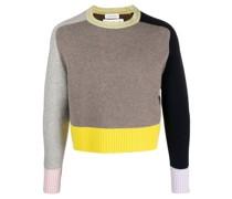 colour-block cashmere jumper