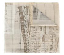 Wollschal mit Landschafts-Print