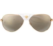 Sonnenbrille im Pilotenstil mit Medusa-Details