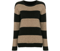 striped round-neck sweater