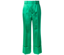 Duchesse wide leg cuffed trousers - women