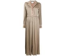 Kleid mit Monogrammmuster