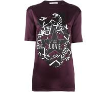 Seiden-T-Shirt mit Schlangen-Print