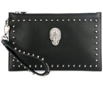 embellished clutch bag - women - Leder