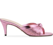 Metallic-Sandalen mit Knoten