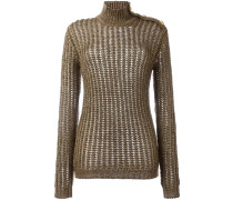 ribbed open knit jumper