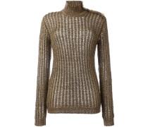 ribbed open knit jumper - women