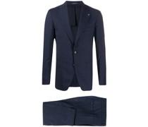 Karierter Anzug mit schmalem Schnitt