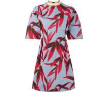 Kleid mit Blatt-Print - women