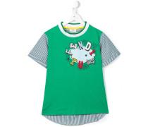 T-Shirt mit Logo- und Wolken-Print