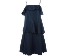 Kleid mit gewellten Details im Lagen-Look