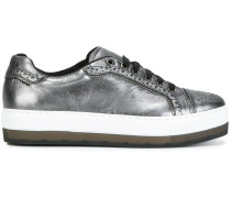Flatform-Sneakers im Metallic-Look