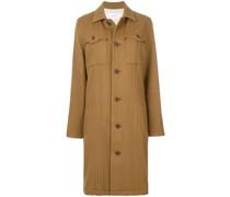 Einreihiger Mantel mit Brusttaschen