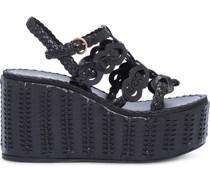 Wedge-Sandalen mit Webmuster, 95mm