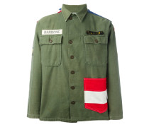 Military-Jacke mit USA-Flagge