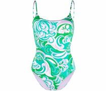 Badeanzug mit grafischem Print