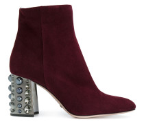 ankle boots with embellished heel