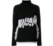 embroidered turtleneck jumper