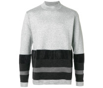 colour-block striped sweater