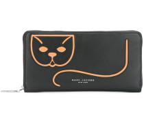 Portemonnaie mit Katzen-Applikation - women