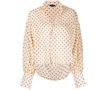 Gepunktete Cropped-Bluse