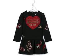 sequinned heart dress