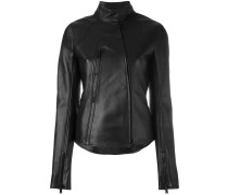 zipped biker jacket - women