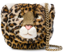 leopard face crossbody bag