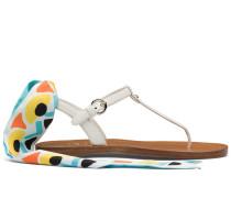 Sandalen aus Saffiano-Leder