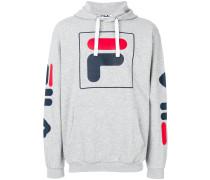 logo printed hoodie