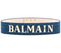denim logo waist belt