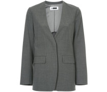 curved hem boxy blazer