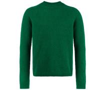 Shetland crew neck wool sweater
