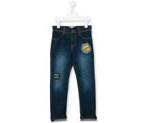 Jeans mit Patches - kids - Baumwolle/Elastan