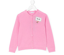 embellished logo plaque cardigan