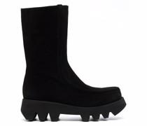 Ivet suede zip-up boots