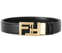 - logo buckle belt - men - Kalbsleder/Messing