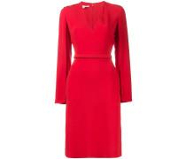 V neck split sleeve midi dress