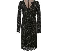 Gerafftes Kleid mit Spitze