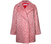 Metallischer Mantel mit floralem Muster