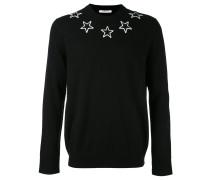 Sweatshirt mit Sternstickerei