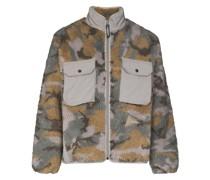 'Jacquard Boa' Jacke aus recyceltem Fleece
