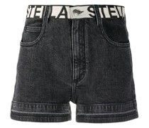 Jeans-Shorts mit Logo