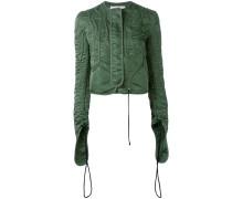 Cropped-Jacke mit gerafften Ärmeln