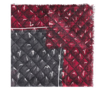trompe-l'oeil quilted scarf