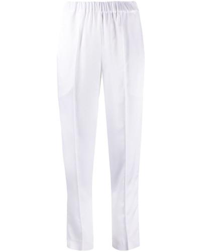 Cropped-Hose mit Faltendetail